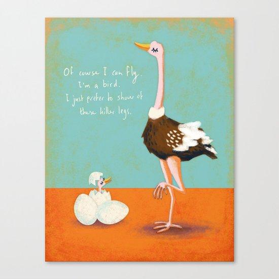 Confident Ostrich Canvas Print