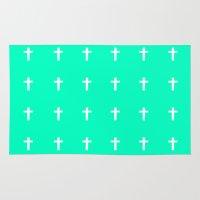 cross Area & Throw Rugs featuring Cross by HW Studio