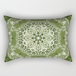 Green Dragonfly Mandala Rectangular Pillow
