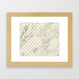 Moroccan marble Framed Art Print