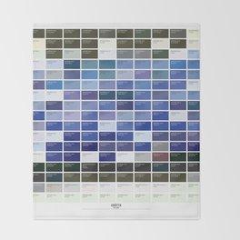 PANTONE glossary - Iceland - Grótta Throw Blanket