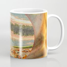 Rowing boat on the shore Coffee Mug