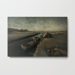 Salt Pan texture  Metal Print