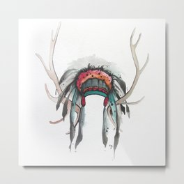 Antler Headdress Metal Print