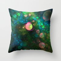 psychadelic Throw Pillows featuring Inner Space by Lyle Hatch