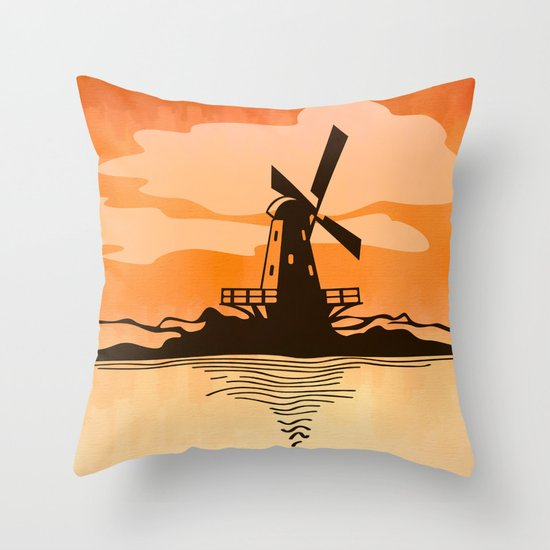 Wind-Driven Throw Pillow