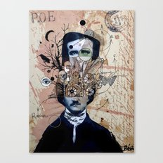 POE WITH EXAGERRATED THOUGHT Canvas Print