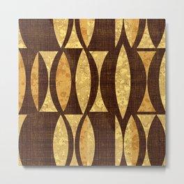 seventies gold and brown Metal Print
