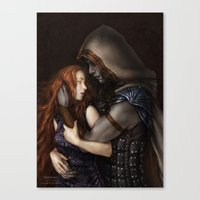 book cover Canvas Prints featuring Radiance Book Cover by Helheimen Design