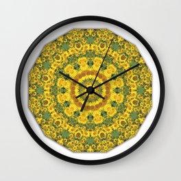 Sunflowers, Floral mandala-style, Flower Mandala Wall Clock