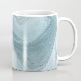 Agate blue and grey abstract Coffee Mug