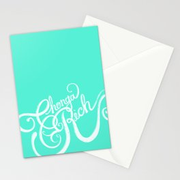 Chonga Rich - Cyan Stationery Cards