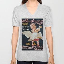 Vintage poster - Pates de Foie Gras Unisex V-Neck