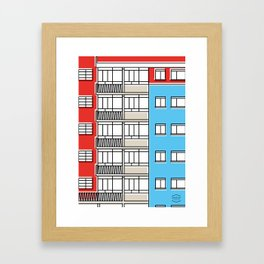 Edificio Canaima -Detail- Framed Art Print
