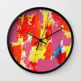 Abstract Expression #7 by Michael Moffa Wall Clock