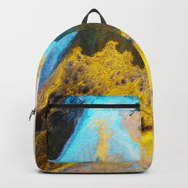 Sandstone washed by Waves on Vancouver Island Backpack