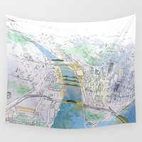 pittsburgh Wall Tapestries featuring Pittsburgh by Jen Joyce