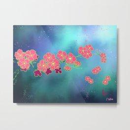 Cherry Blossom Nights Metal Print