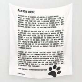 Rainbow Bridge Poem #inspirational #pet #love Wall Tapestry
