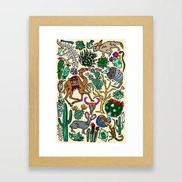 Desert In Color Framed Art Print