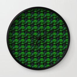 Little green Devil - Abstract pattern in Retrolook Wall Clock