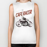 cafe racer Biker Tanks featuring Rise of the Cafe Racer II by RiseoftheCafeRacer