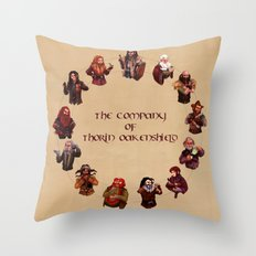 The Company of Thorin Oakenshield Throw Pillow