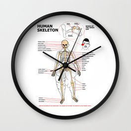 Human Skeleton Wall Clock