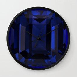 September Babies deed Blue Sapphire Birthstone Design Wall Clock