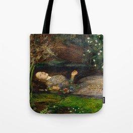 Ophelia, John Everett Millais Tote Bag