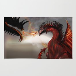 Challengers Challenger Abstract Dragons Rug