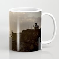 puerto rico Mugs featuring Puerto Rico From Old to New by Stu Naranch