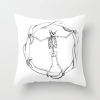 anarchy Throw Pillows featuring Anarchy by LvsD