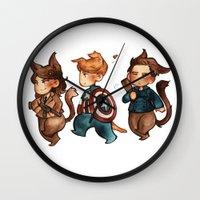 onward Wall Clocks featuring onward to adventure! by noCek