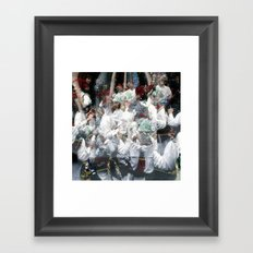 human touch motion language Framed Art Print