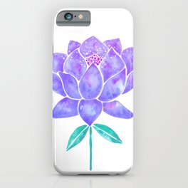 Sacred Lotus Blossom – Amethyst Turquoise iPhone Case