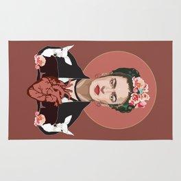 Frida Kahlo (Dark) Rug