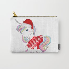Cute Christmas unicorn tshirt gift idea Carry-All Pouch