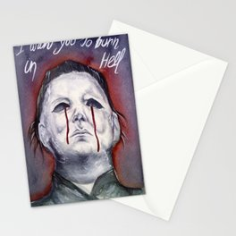 see you in hell Stationery Cards