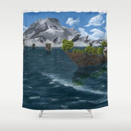 Flooded City Shower Curtain