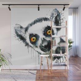 Lemur Head Wall Mural