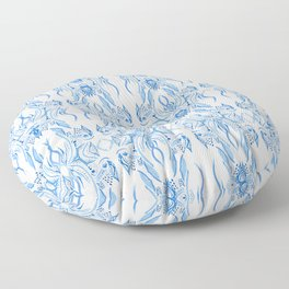 Ice damask Floor Pillow