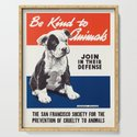Be Kind To Animals - Vintage Poster by rossgilmore