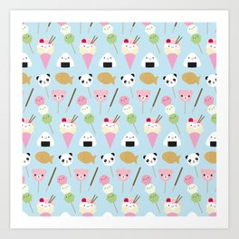 Japanese Kawaii Snacks Art Print