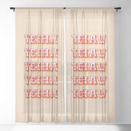 Yeehaw Sheer Curtain