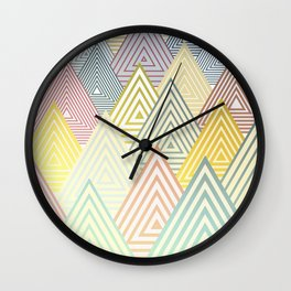Pastel Mountains Wall Clock