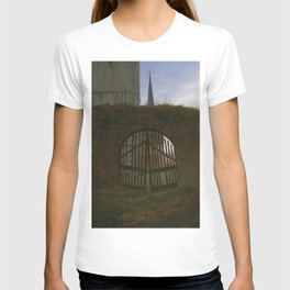 Caspar David Friedrich - The Cemetery Gate / The Churchyard (1830) T-shirt