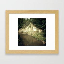 RIVER BANK Framed Art Print
