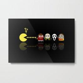 Pacman with Horror Movies Heroes Ghosts Metal Print