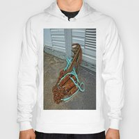 anchors Hoodies featuring Rusty anchors by Ricarda Balistreri